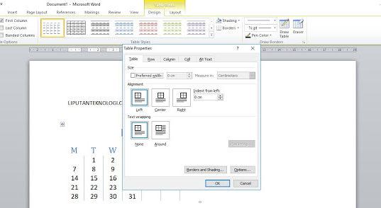 Cara Membuat Tabel Di Microsoft Word