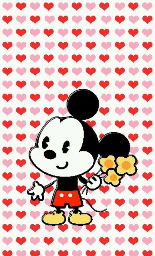 wallpaper kartun mickey mouse love