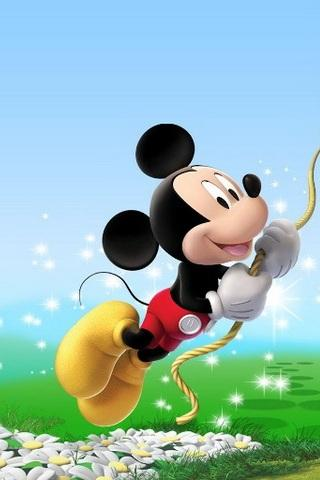 wallpaper kartun mickey mouse terbang