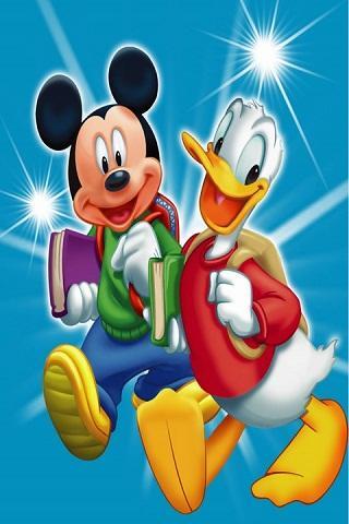 wallpaper kartun mickey mouse lucu