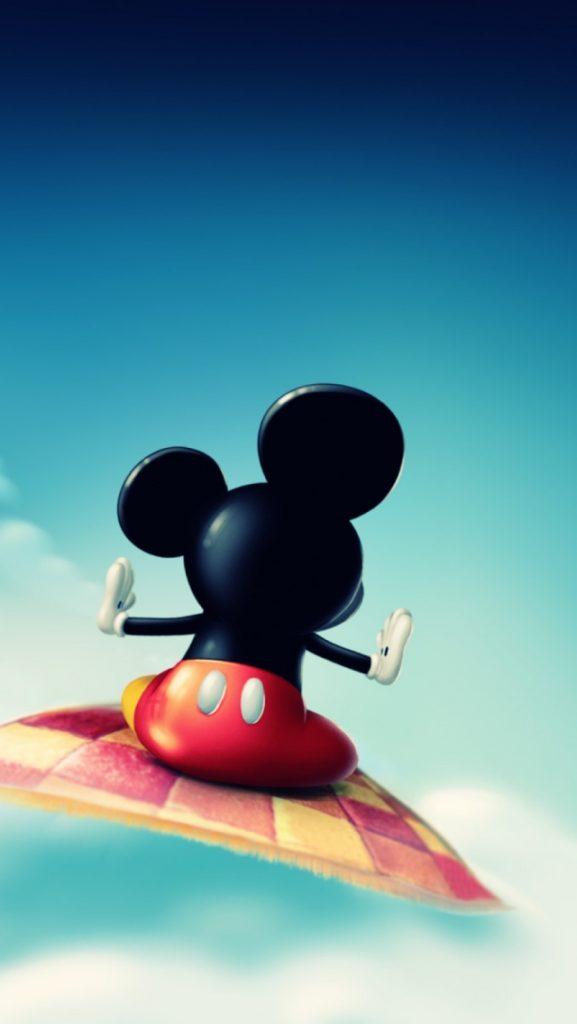 wallpaper kartun mickey mouse sendirian