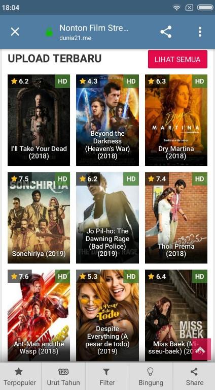 Cara Download Film di LK21 Lewat andorid