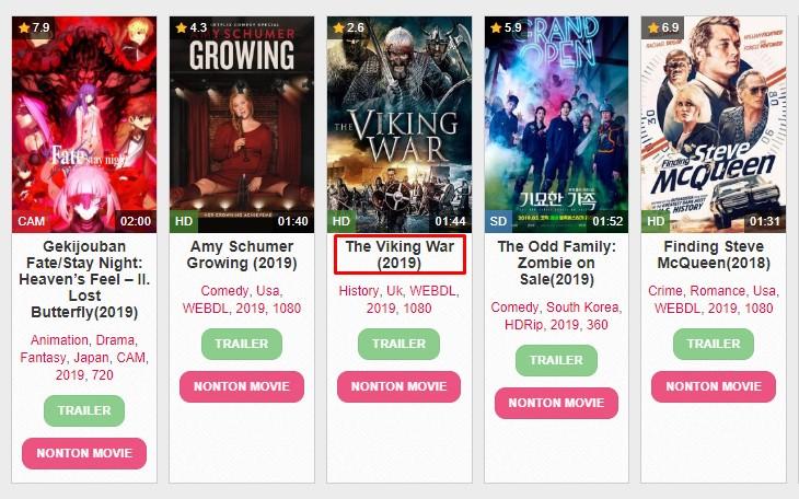 Pilih film yang ingin di download