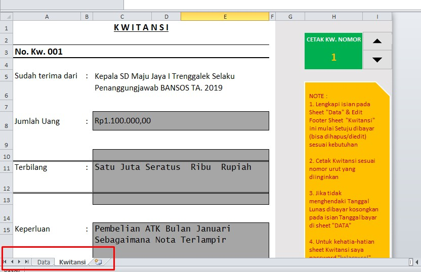 download kwitansi pembayaran