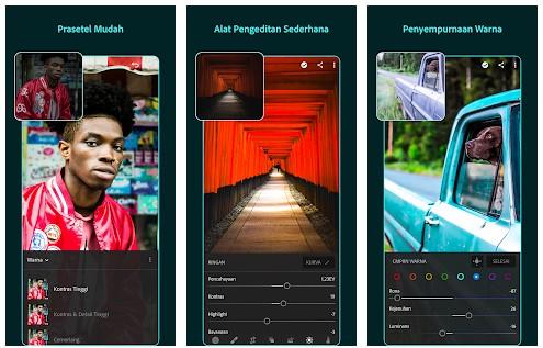 aplikasi edit foto kekinian Adobe Lightroom