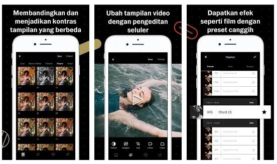 aplikasi edit foto iphone VSCO