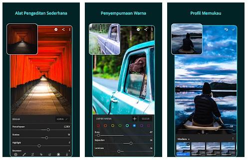 aplikasi edit foto terbaik iphone Adobe Lightroom CC
