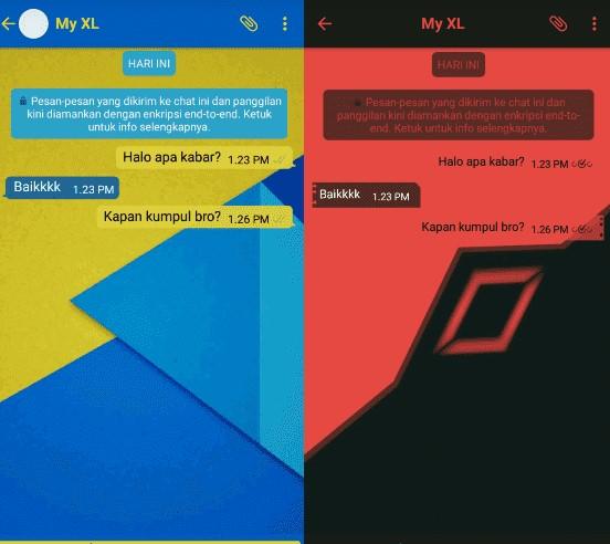 cara merubah tema whatsapp di android