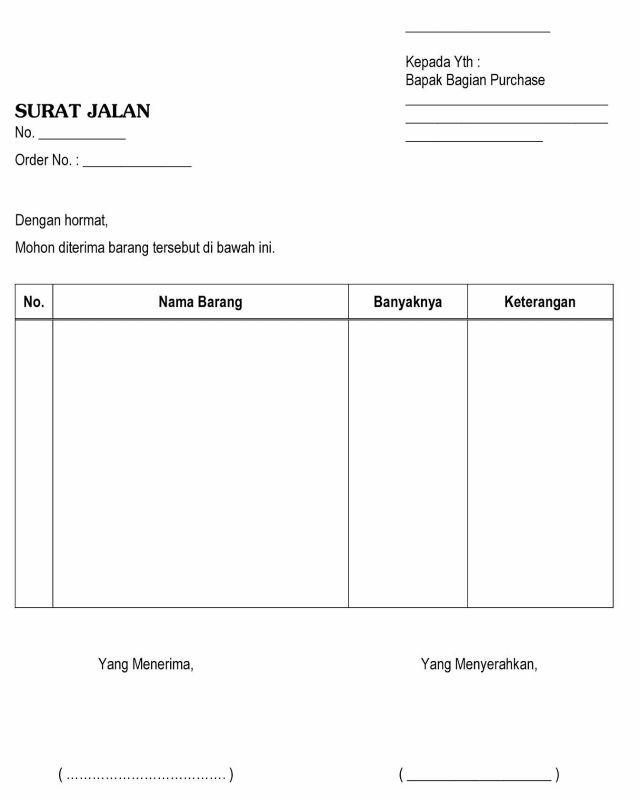 Contoh Surat Resmi Perusahaan: Contoh Surat Jalan Lengkap ( Barang, Kendaraan,dll)