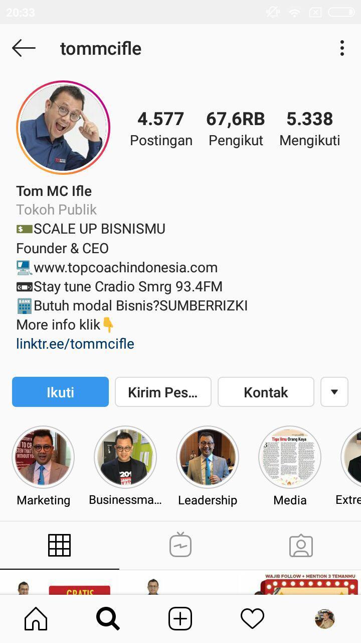 bio instagram bisnis