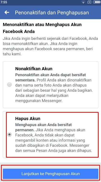 cara memblokir akun facebook secara permanen
