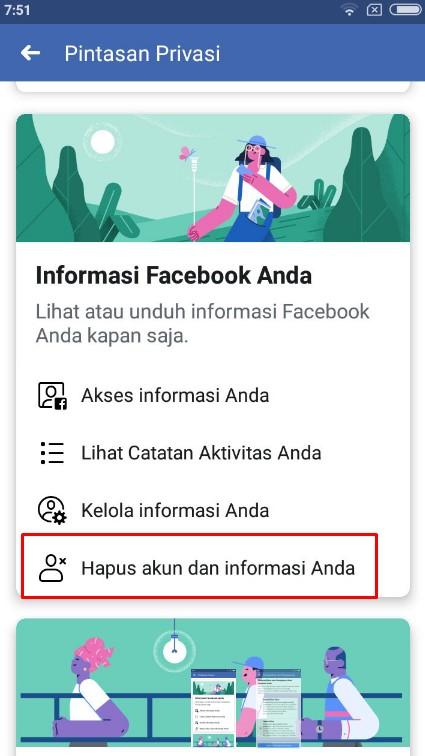 cara menghapus akun facebook diri sendiri secara permanen