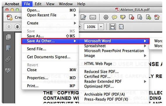 cara mengubah PDF menjadi Word