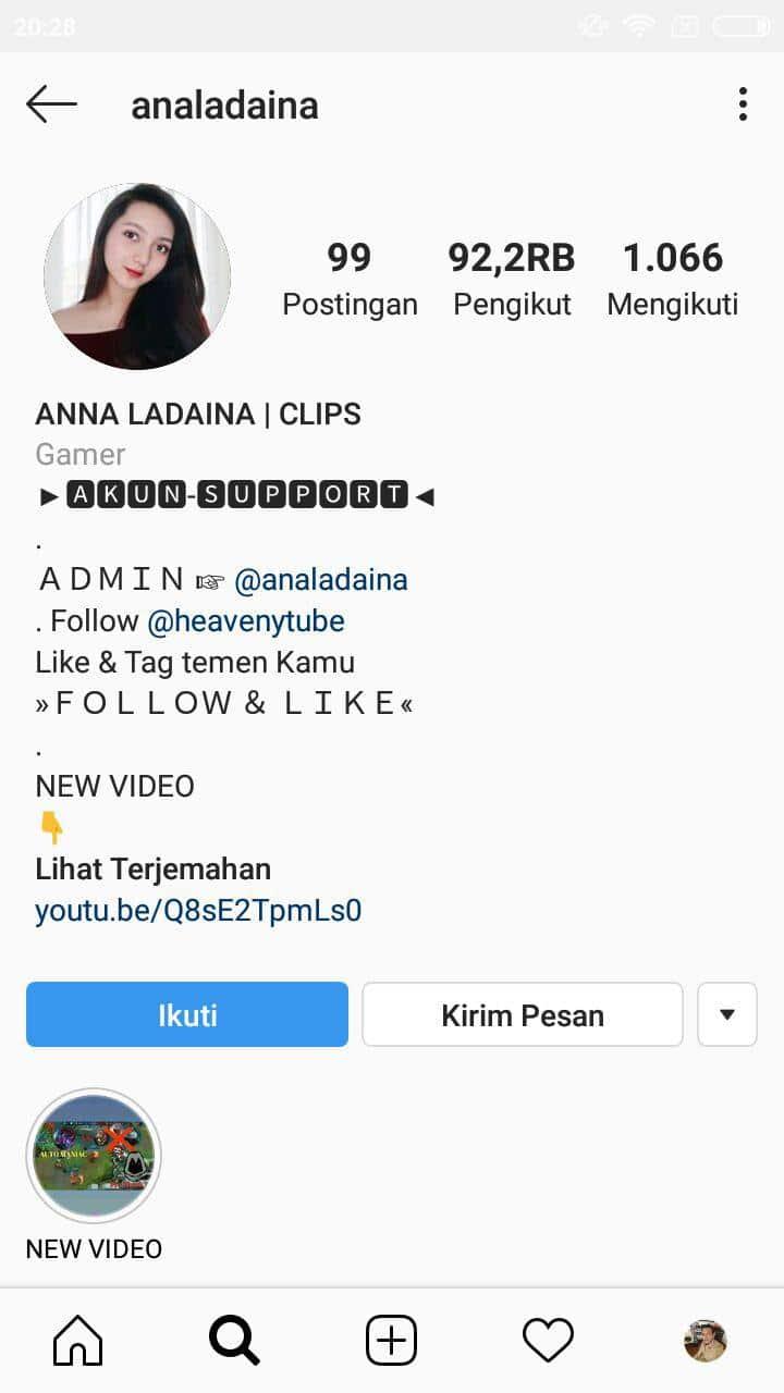 contoh bio instagram admin