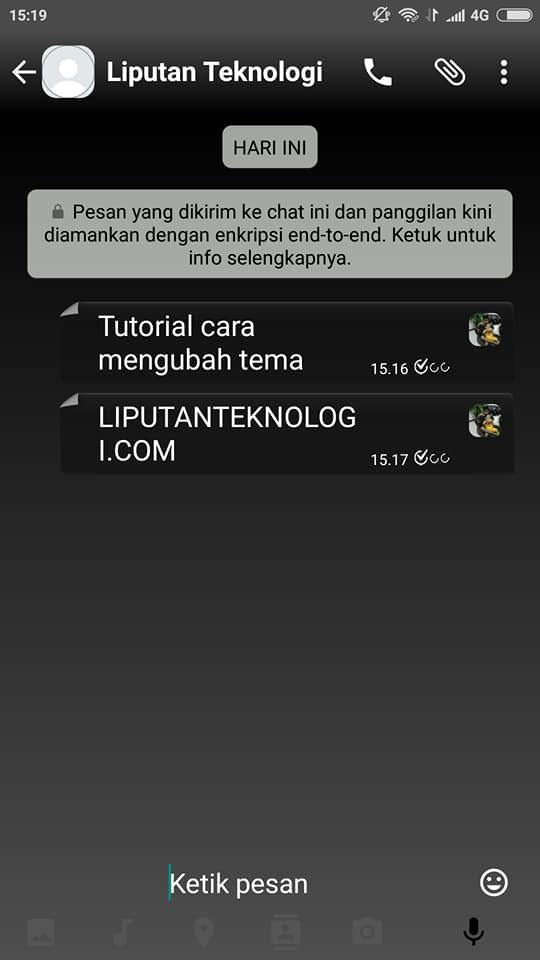 contoh cara menganti tema whatsapp