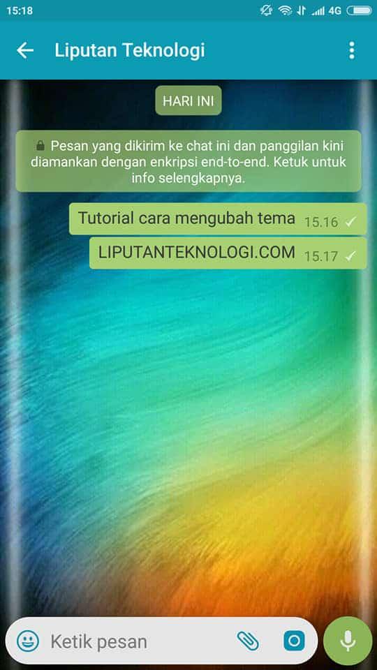 contoh menganti tema whatsapp