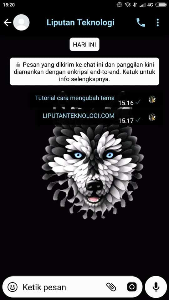 tema whatsapp menarik