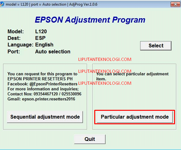 Download Softawre Resetter Printer Epson L120