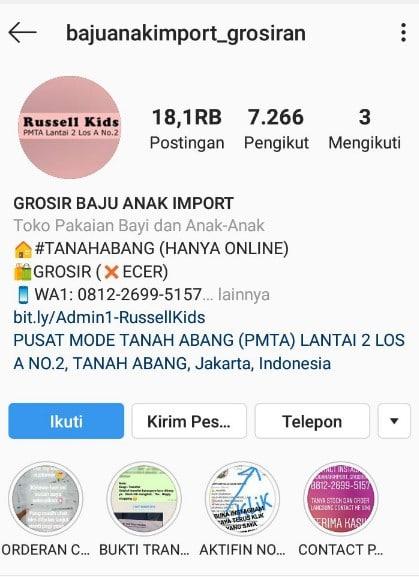 Contoh Bio Online Shop di Instagram Yang Cocok Untuk ...