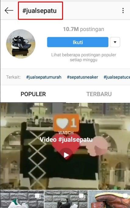 cara membuat bio instagram online shop