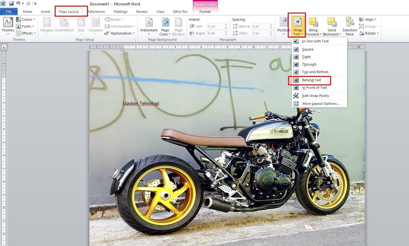 Cara membikin Background di MS Word