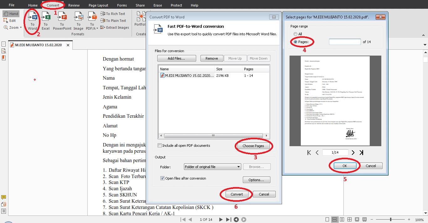 Cara mengedit hasil scan